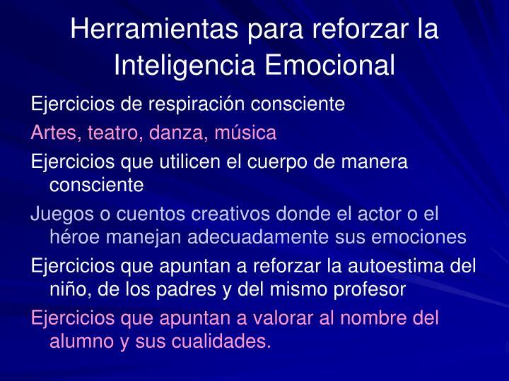 Herramientas para reforzar la Inteligencia Emocional