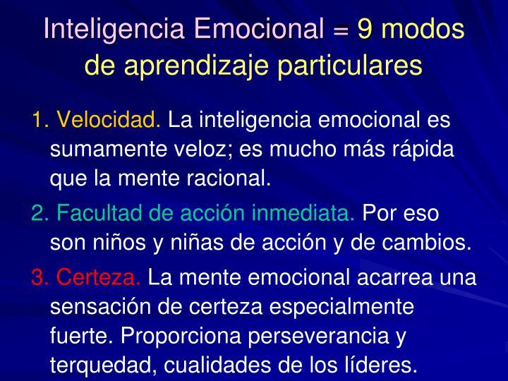 Inteligencia Emocional =