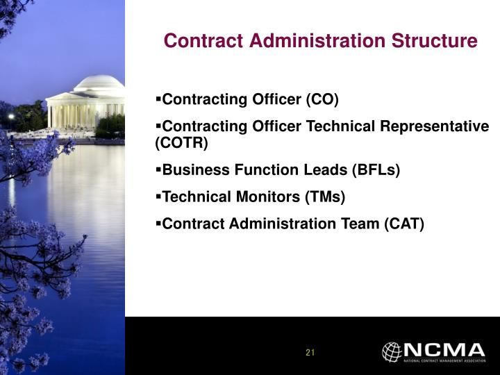 Contract Administration Structure
