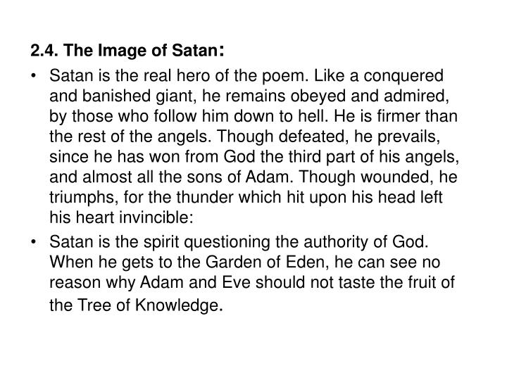 2.4. The Image of Satan