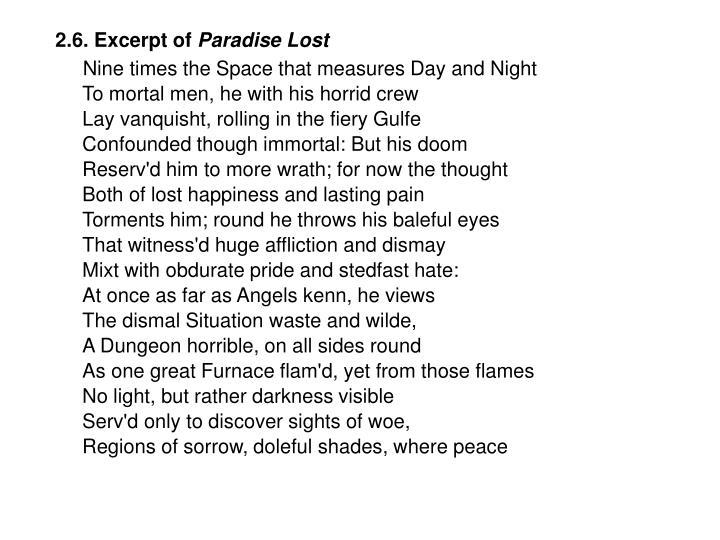 2.6. Excerpt of