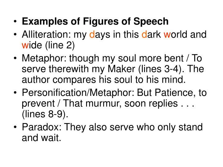 Examples of Figures of Speech