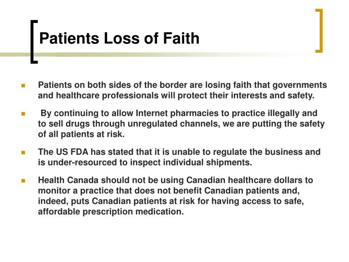 Patients Loss of Faith
