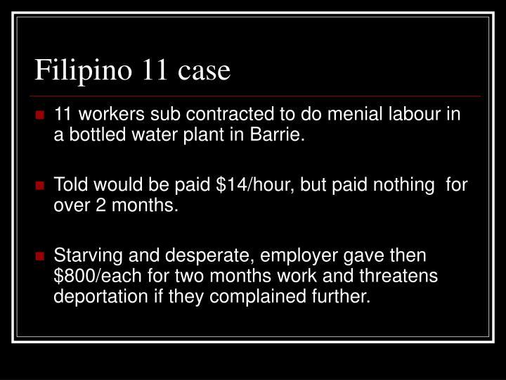 Filipino 11 case