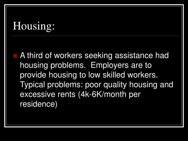 Housing:
