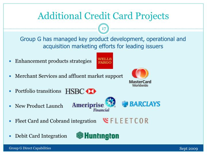 Additional Credit Card Projects
