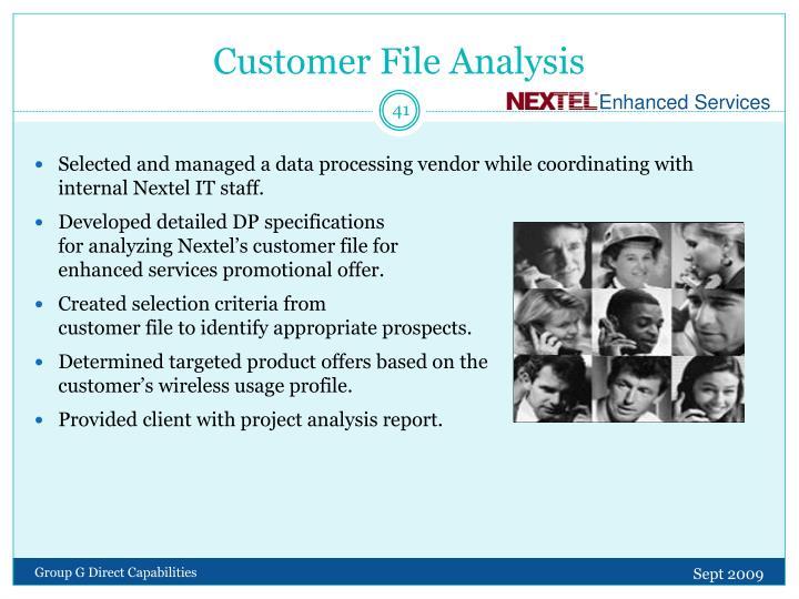 Customer File Analysis
