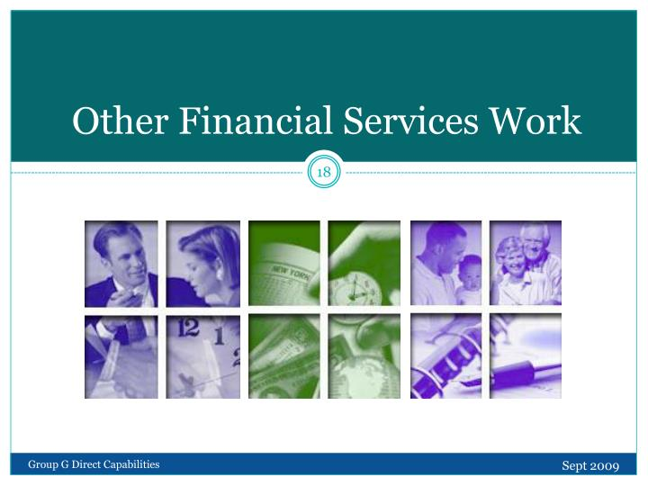 Other Financial Services Work