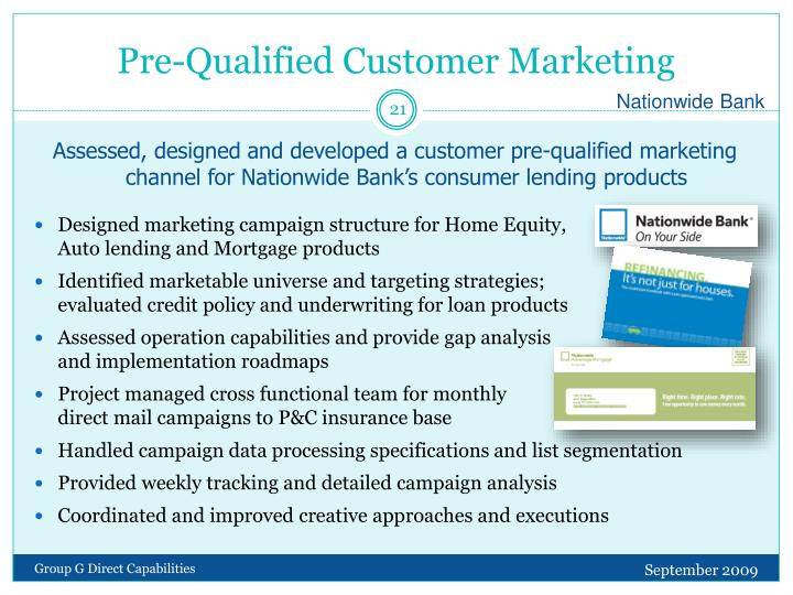 Pre-Qualified Customer Marketing