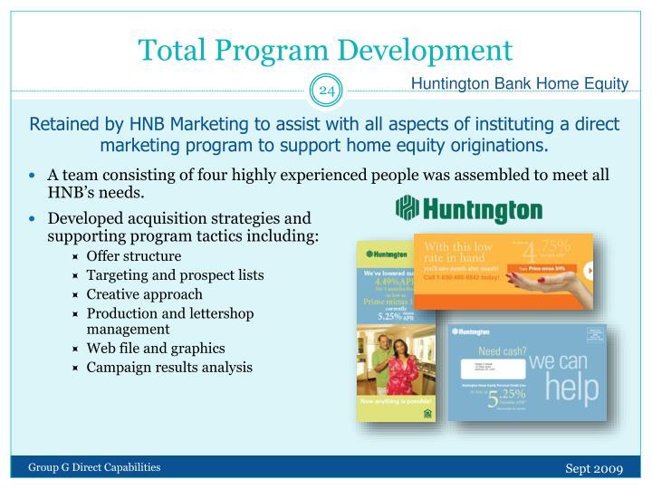 Total Program Development