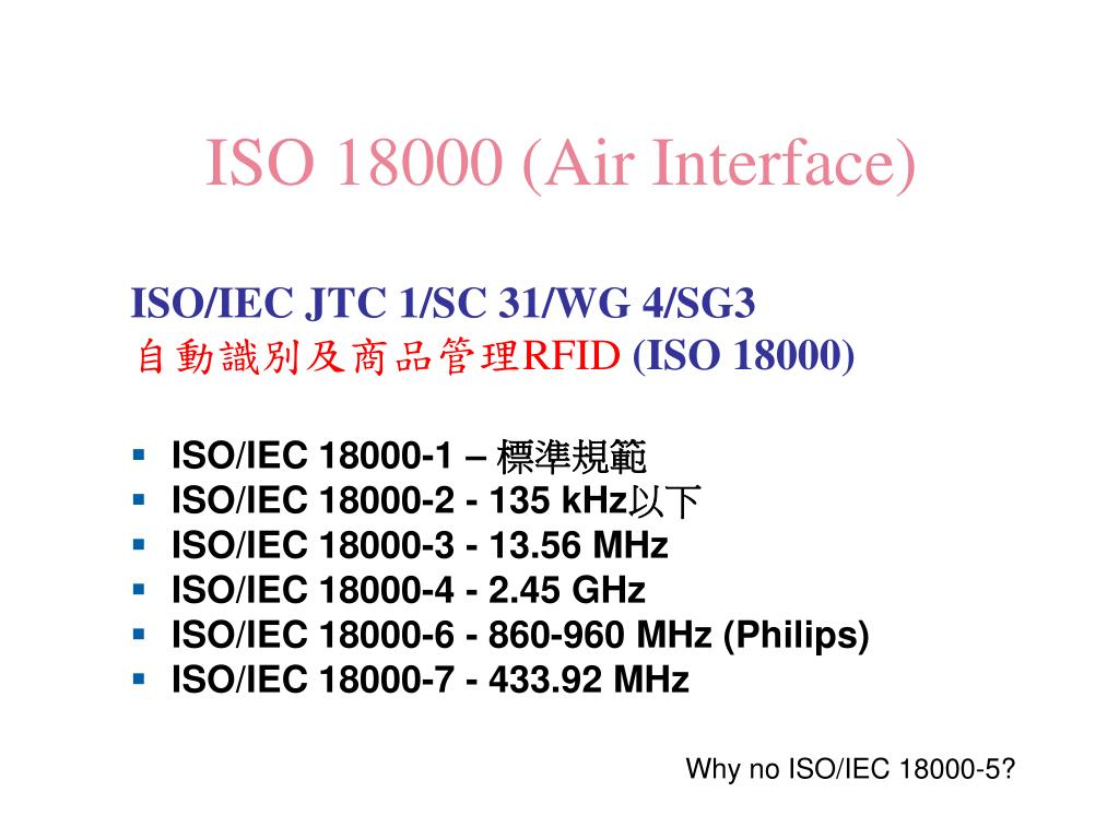 ISO 18000 (Air Interface)