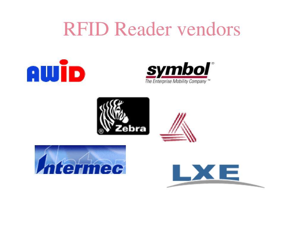 RFID Reader vendors
