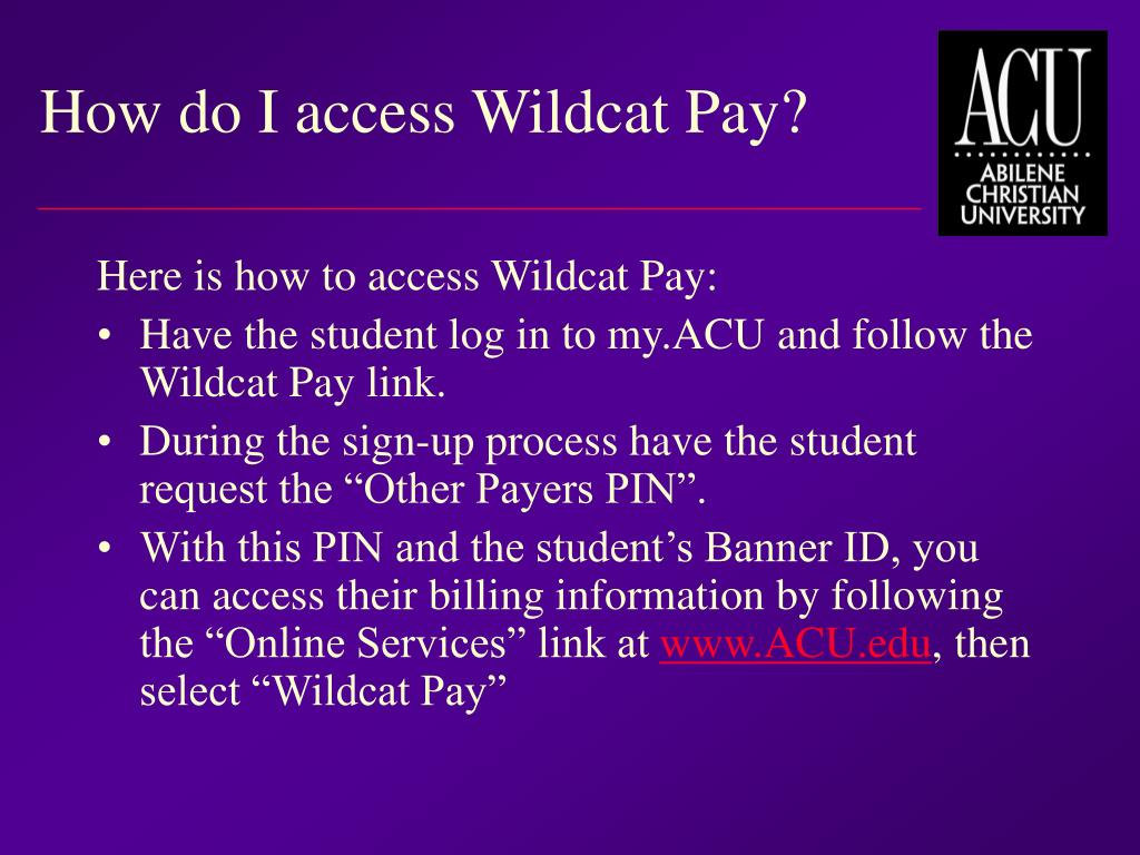 How do I access Wildcat Pay?