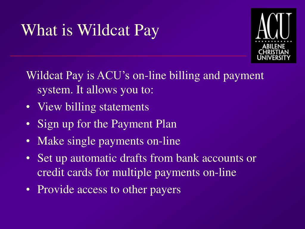What is Wildcat Pay