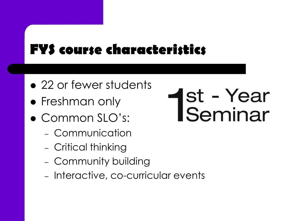 FYS course characteristics