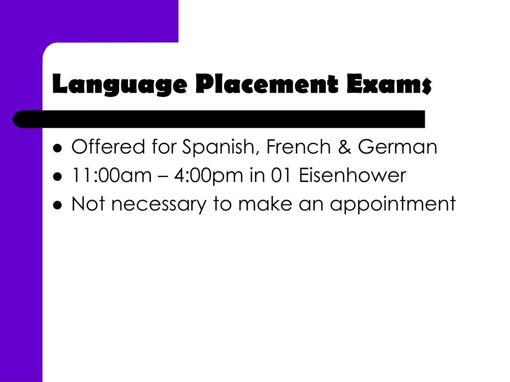 Language Placement Exams