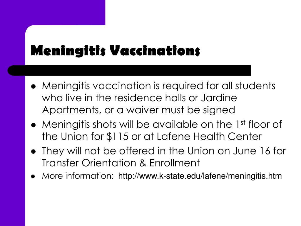 Meningitis Vaccinations