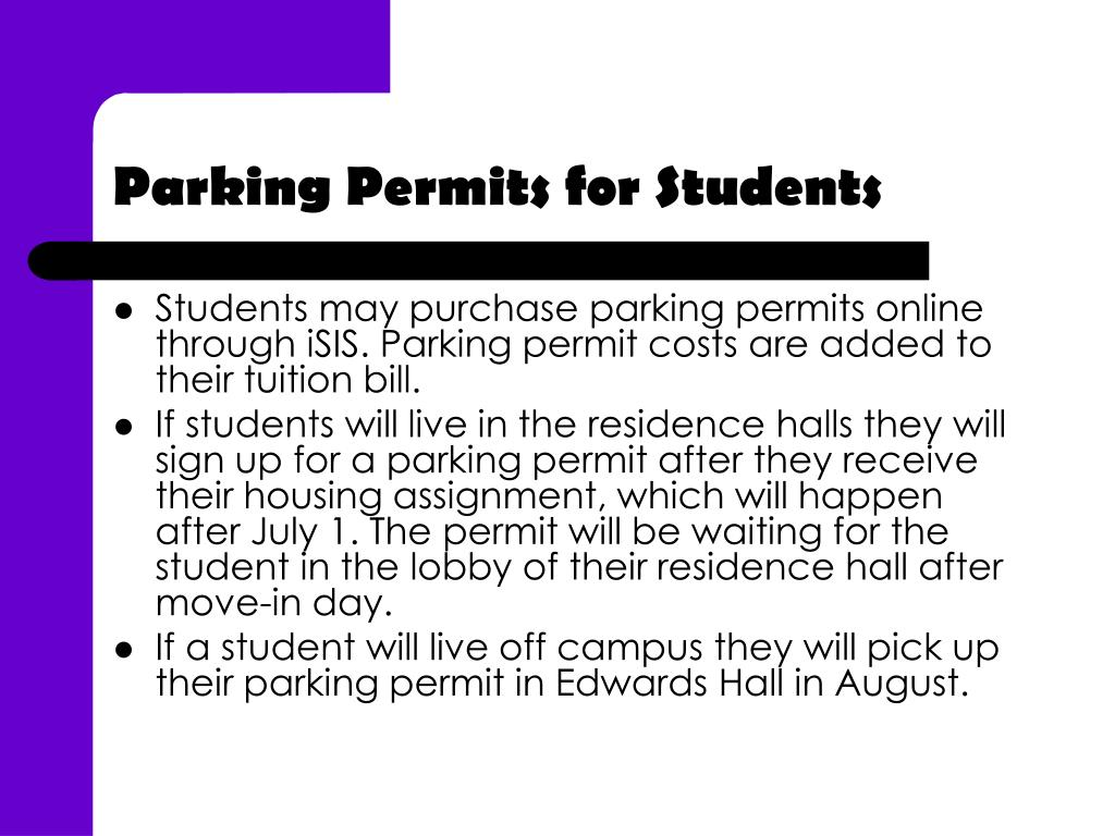 Parking Permits for Students