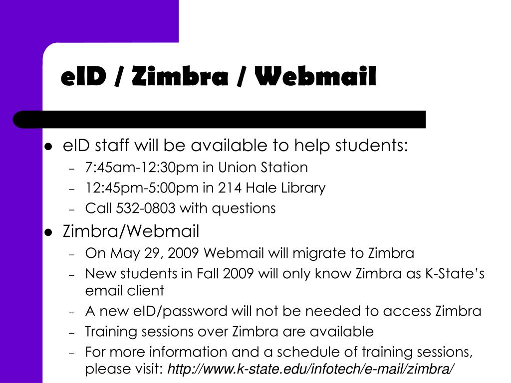 eID staff will be available to help students: