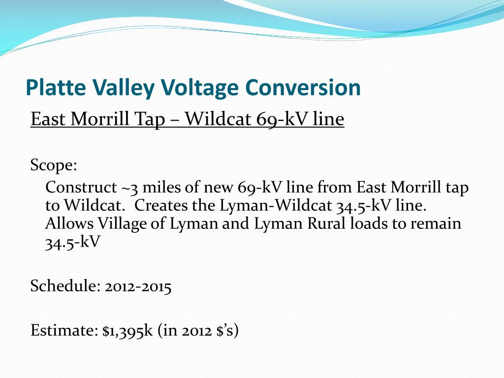 Platte Valley Voltage Conversion