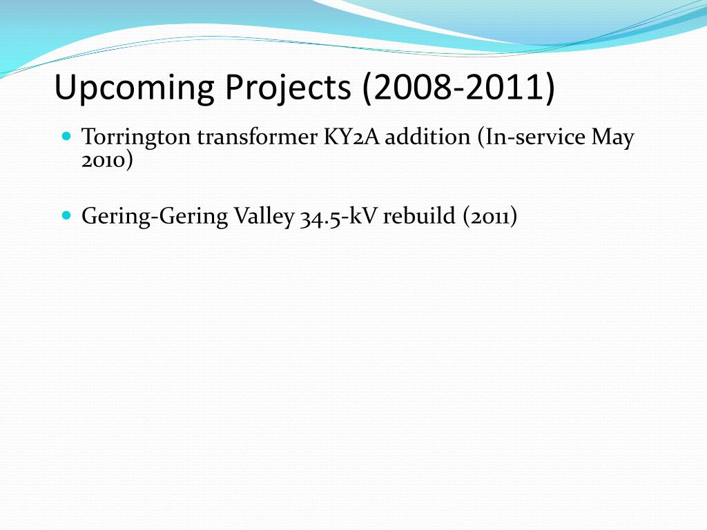 Upcoming Projects (2008-2011)