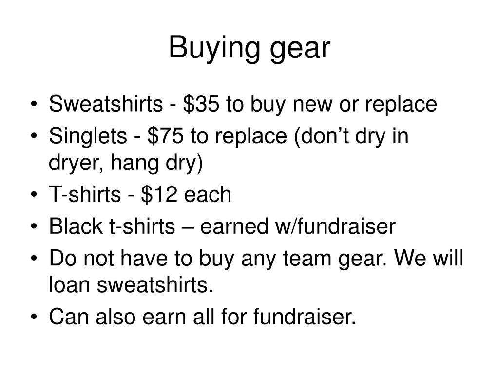 Buying gear