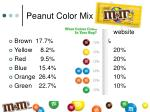 peanut color mix