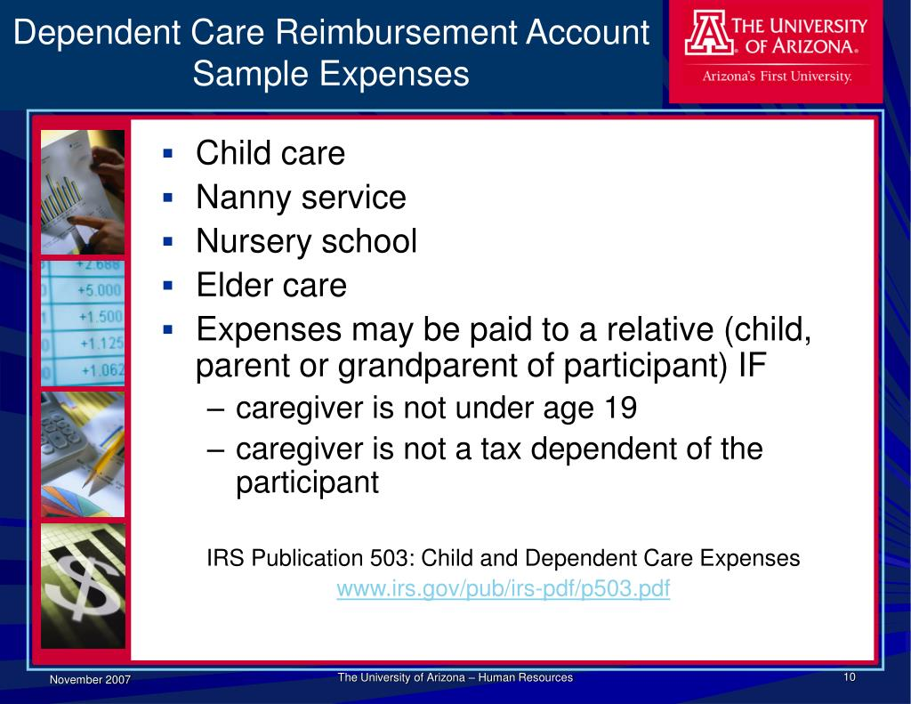 Dependent Care Reimbursement Account Sample Expenses