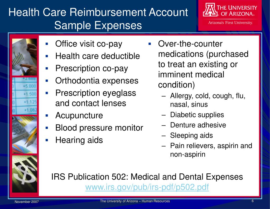 Health Care Reimbursement Account Sample Expenses