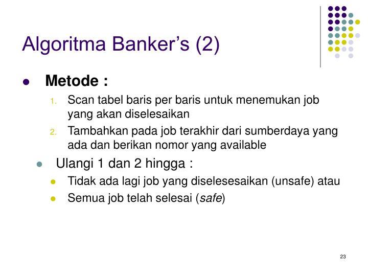 Algoritma Banker's (2)