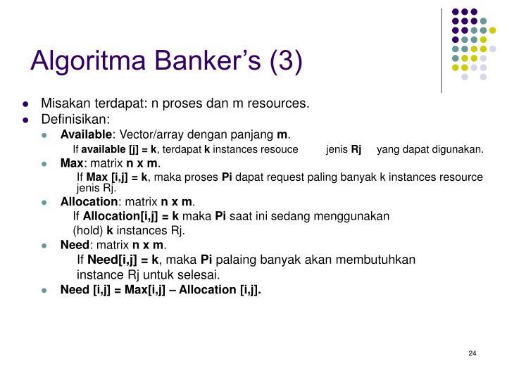 Algoritma Banker's (3)