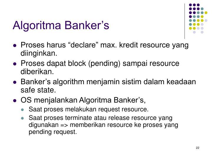 Algoritma Banker's