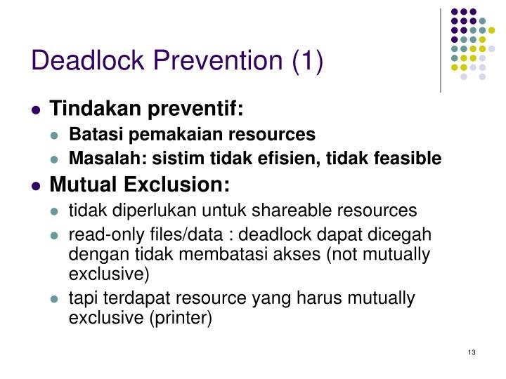 Deadlock Prevention (1)