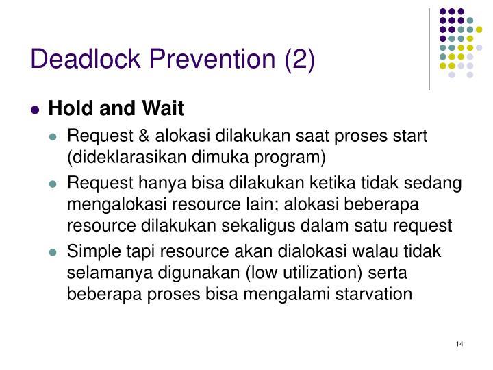 Deadlock Prevention (2)