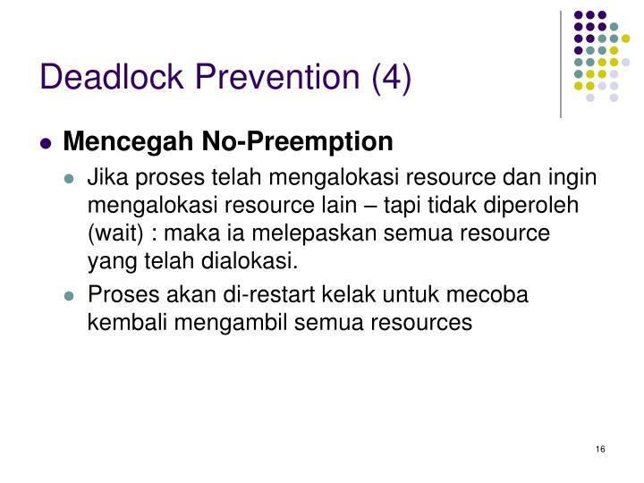 Deadlock Prevention (4)