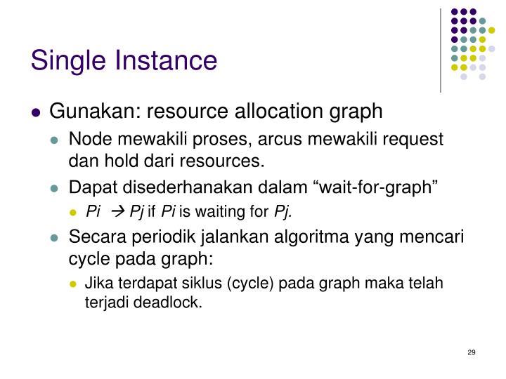 Single Instance