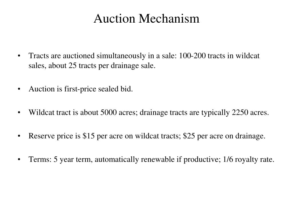Auction Mechanism