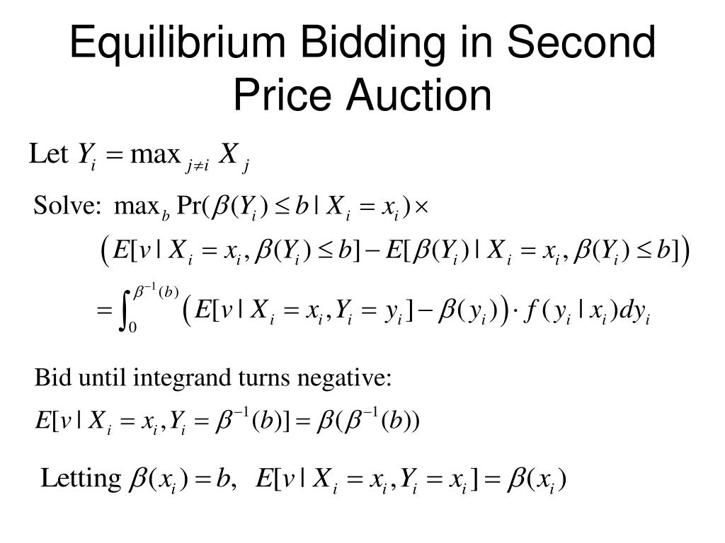 Equilibrium Bidding in Second Price Auction