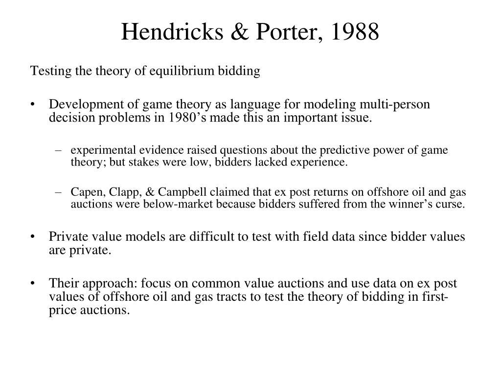 Hendricks & Porter, 1988