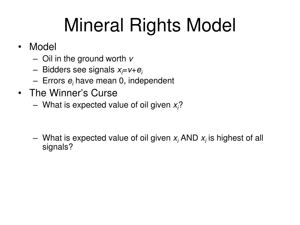 Mineral Rights Model