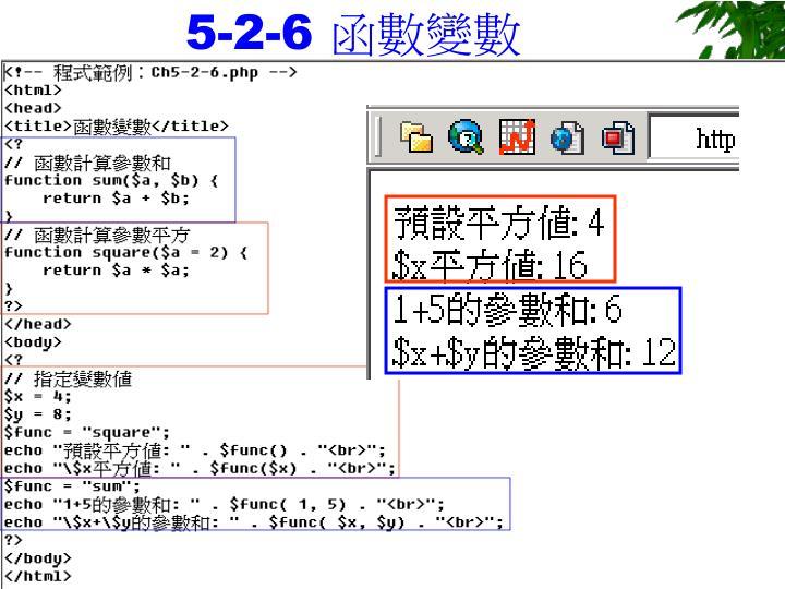 5-2-6 函數變數