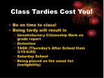 class tardies cost you