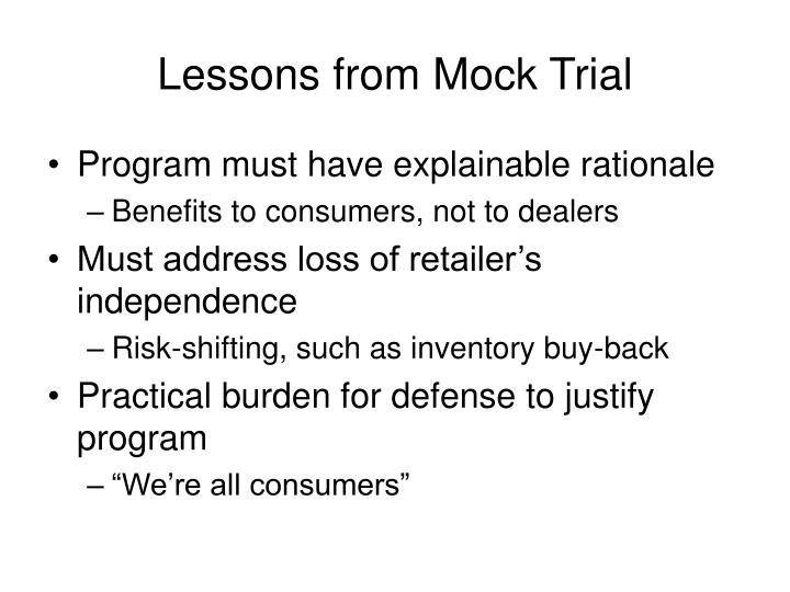 Lessons from Mock Trial
