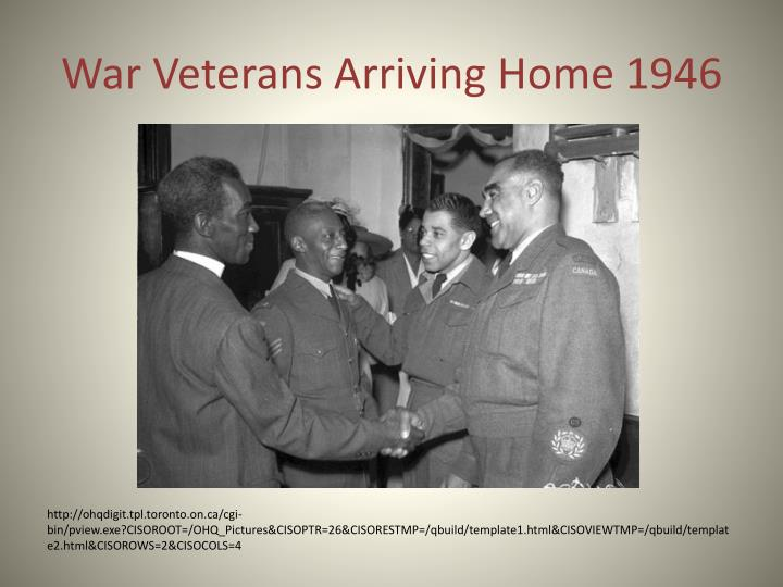 War Veterans Arriving Home 1946