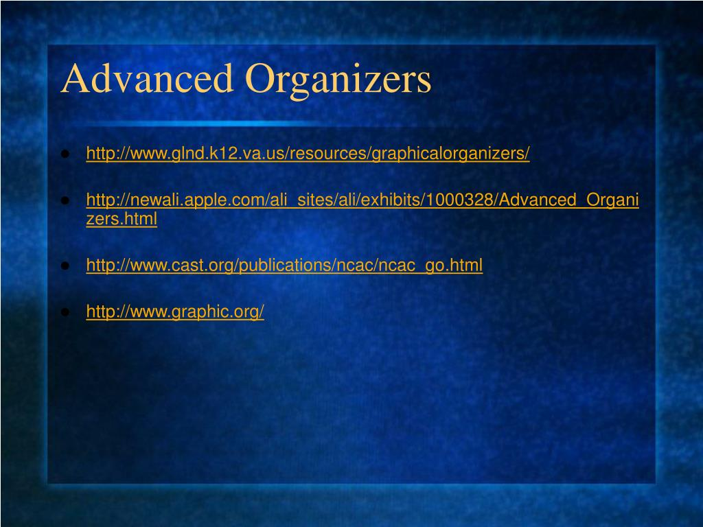 Advanced Organizers