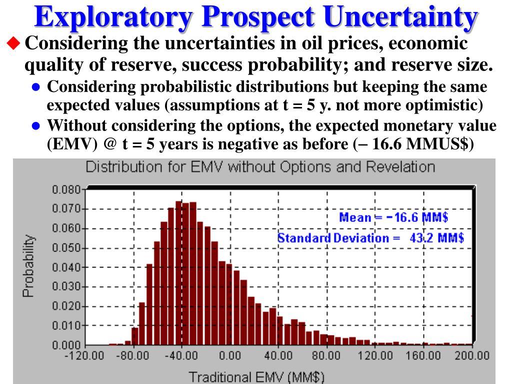 Exploratory Prospect Uncertainty