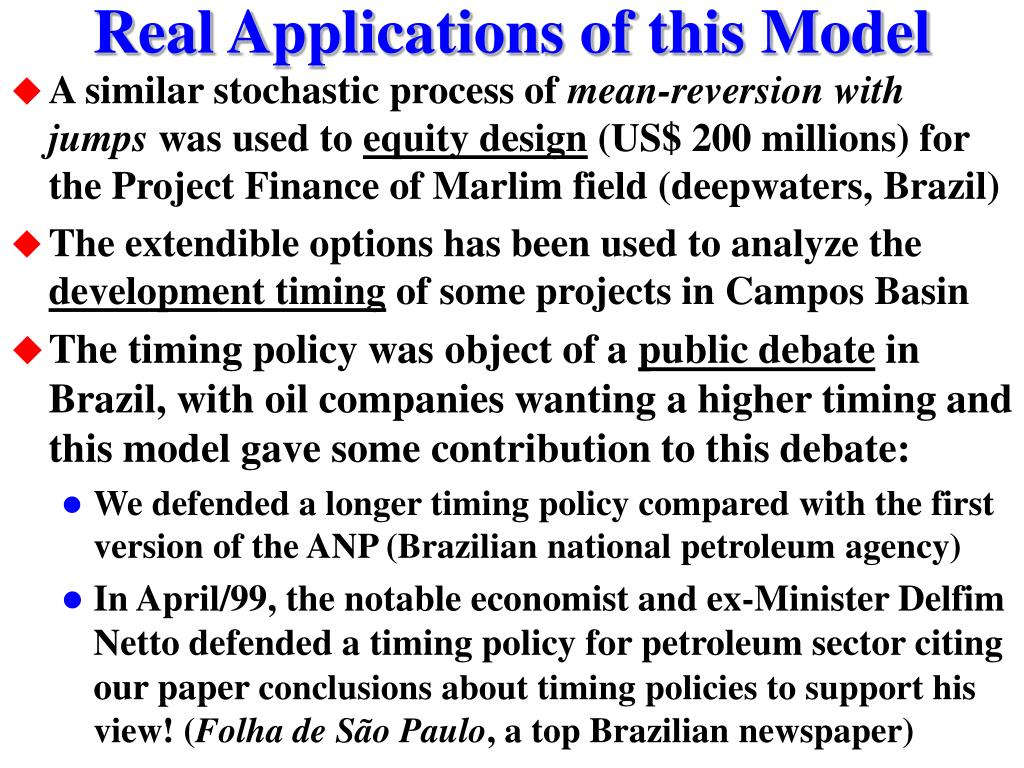 Real Applications of this Model