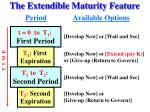the extendible maturity feature