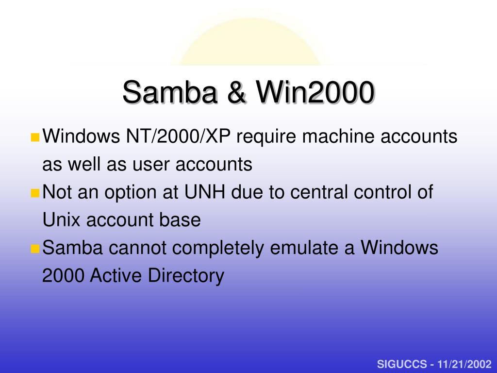Samba & Win2000