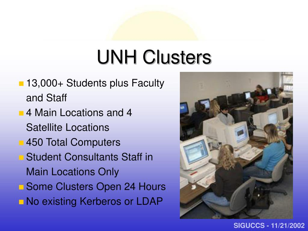 UNH Clusters